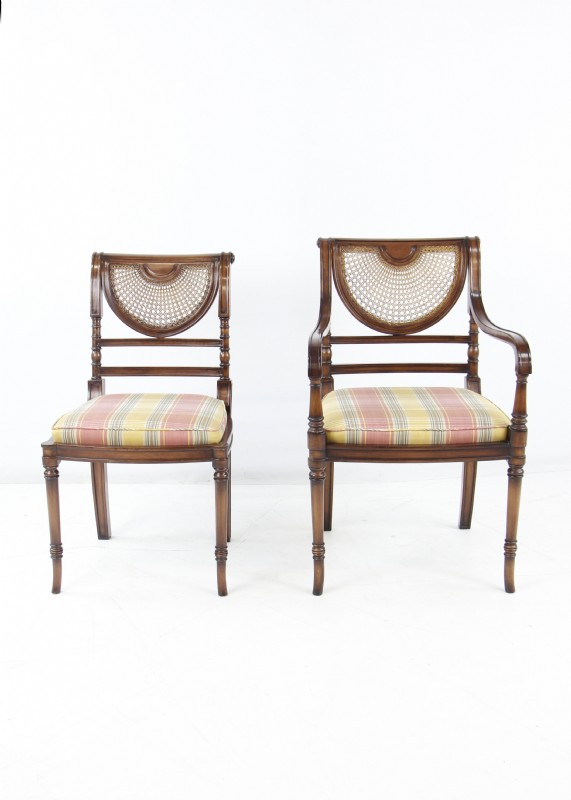 Stupendous Smith Watson Mahogany And Cane Dining Chairs Ncnpc Chair Design For Home Ncnpcorg
