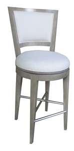 Light Grey Fabric Bar Stool