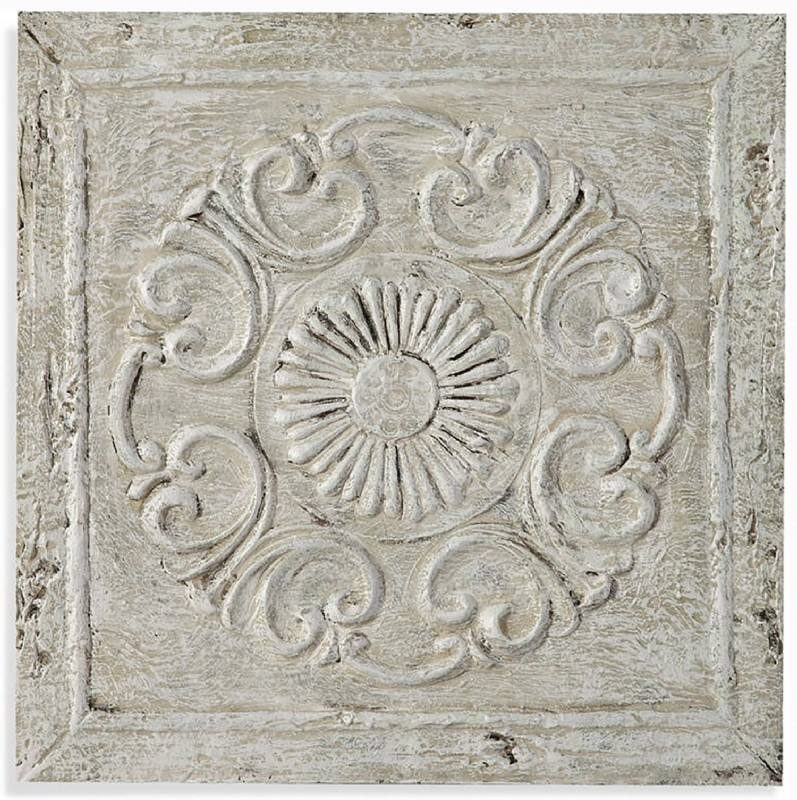 SQUARE ROSETTE WALL HANGING