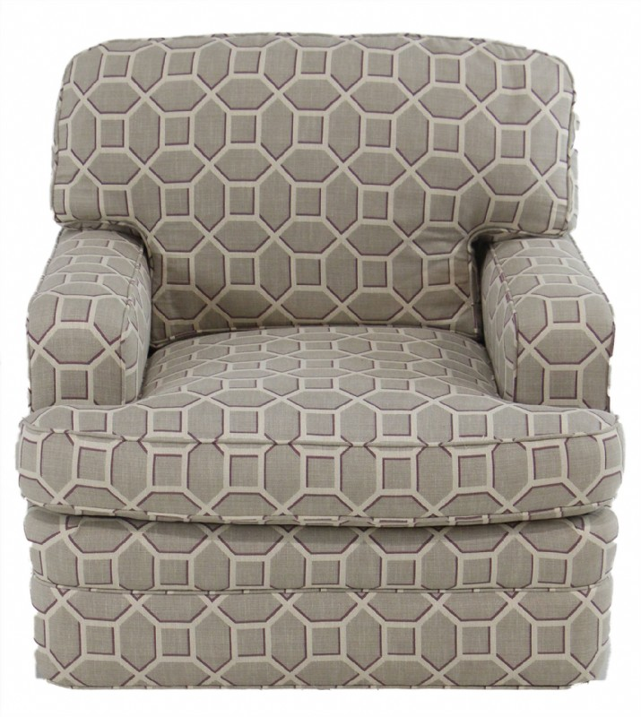 Geometic Pattern Arm Chair
