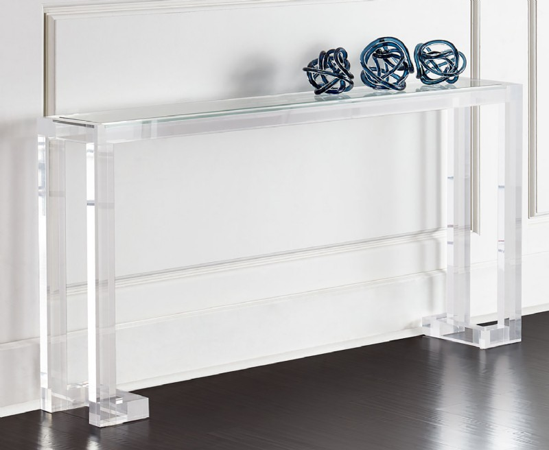 Naomi Acrylic Console Table For Sale In Ct Middlebury Furniture And Home Design