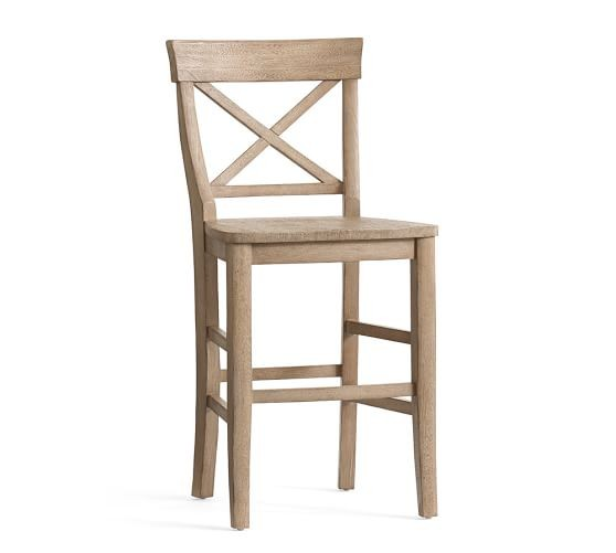 Set of Three Aaron Counter Height Stool-Driftwood