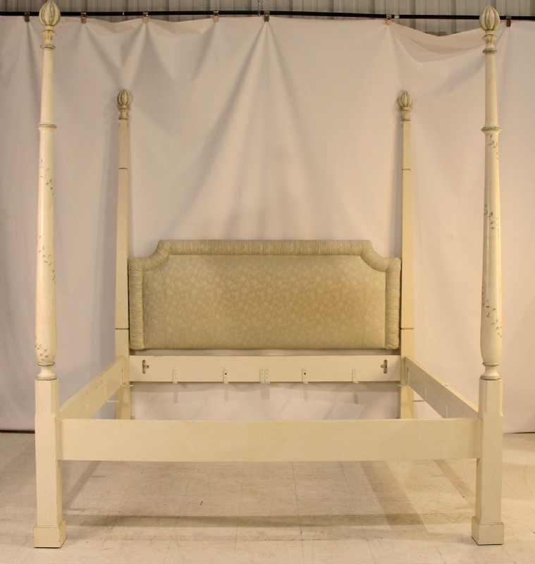 Handpainted King Four Poster Bed