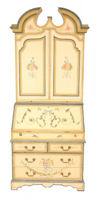 Vintage Hand Painted Secretary