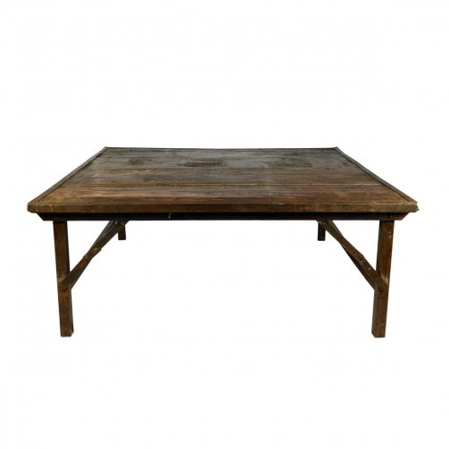 Iron Frame Wedding Coffee Table Natural