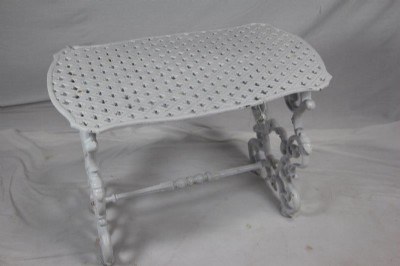 WHITE CAST IRON TABLE
