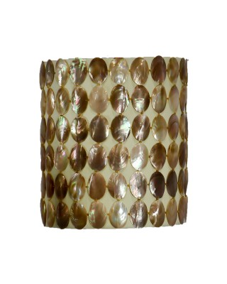 Shell Covered Hanging Lamp