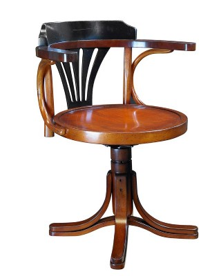 Purser's Chair, Black & Honey