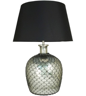 RUSTIQUE LARGE SILVER LAMP