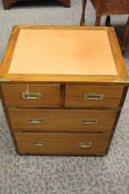 Pair of Antique Teak Campaign Chests