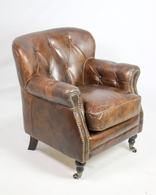 Club Chair, Vintage Cigar Lea