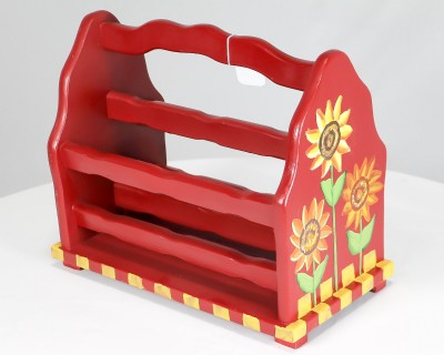 Painted Magazine Rack
