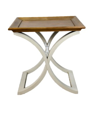 X Cross End Table