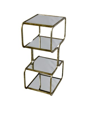 Large Gold Tiered Side Table