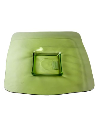 Green Glass square plate