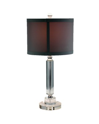 Clear Lamp with Grey Shade