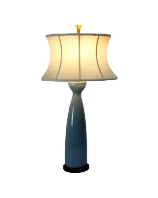 Chelsea White Shade Blue Base Lamp