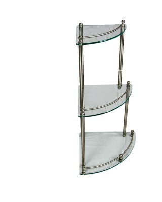Three Shelf Glass CornerTable