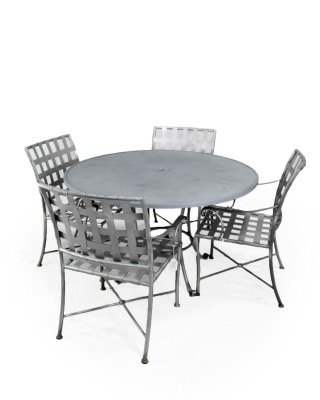 Crate and Barrel Metal Outdoor Set