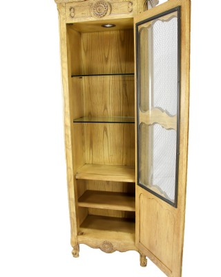 White Oak Windowed Cabinet