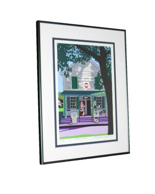 """Pool's Store"" Framed Print Signed by Artist"