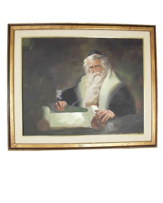 "Framed Painting ""Translating the Word"" by Donald Z"