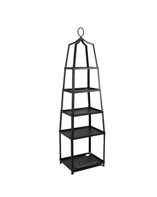 Black Metal Five Shelf Etagere