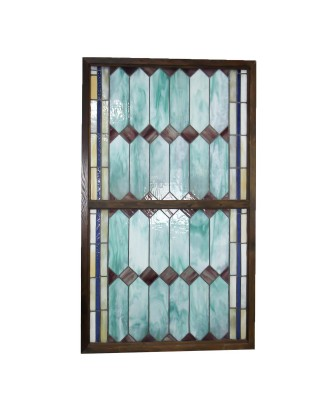 Antique Green Lavender Stained Glass