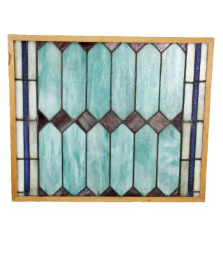 Antique Green Lavender Single Panel