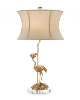 Brass Flamingo Table Lamp