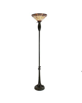 Stained Glass Shade Lamp Post Lamp
