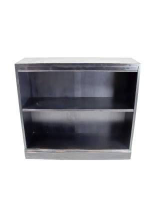 Black Painted Short Bookcase