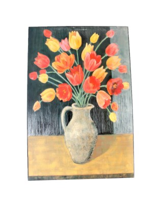 Tulips In Vase Oil Painting