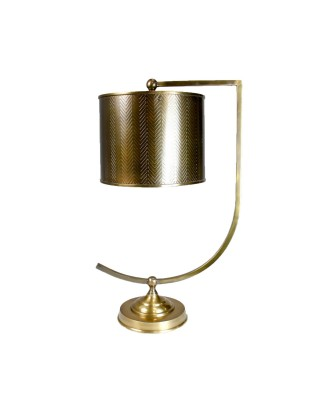 Bent Arm Brass Table Lamp