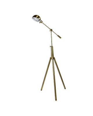Brass Pharmacy One-Bulb Floor Lamp
