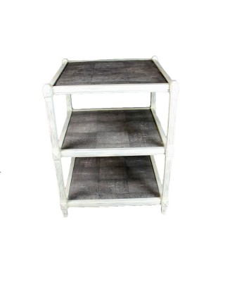 Grey 3 Tier End Table