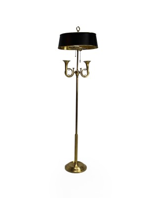 Black and Gold Trumpet Lamp