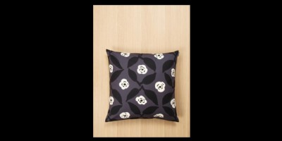Poppy pillow cover grey & offwhite