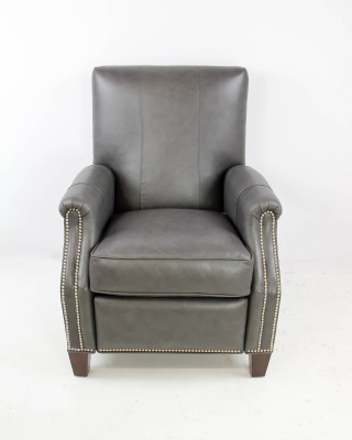 Charcoal Leather Recliner
