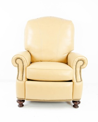 Tan Plush Back Recliner