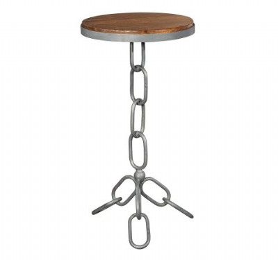 Chain Link Iron Side Table