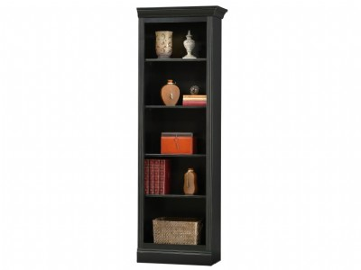 Antique Black Oxford Right Return Bookcase