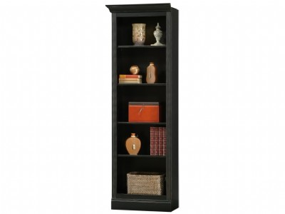 Antique Black Oxford Left Return Bookcase