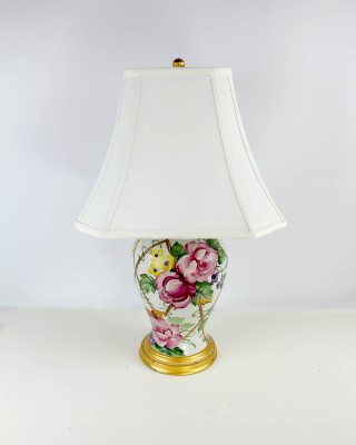 Ceramic Urn Base Double Light Table Lamp