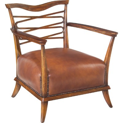 Caramel Leather Leon Chair