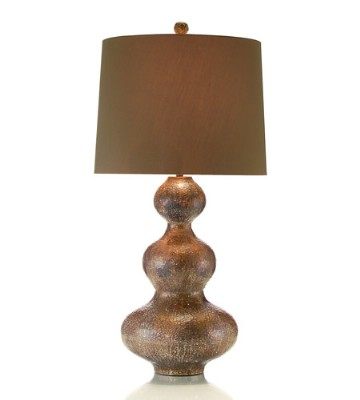 Hammered Copper Triple Gourd Table Lamp