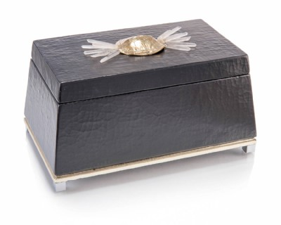 Black with Turtle Shell Jewelry Box