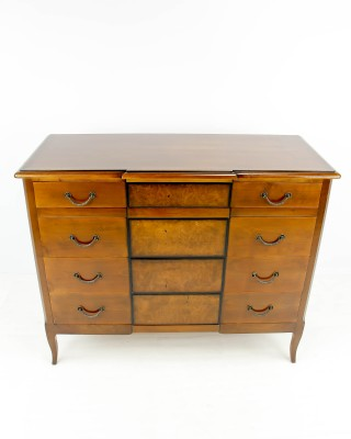 Cherry Chest of Drawers with Burled Front