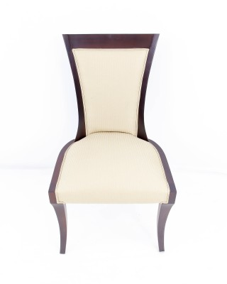 Curved Back Deco Style Side Chair