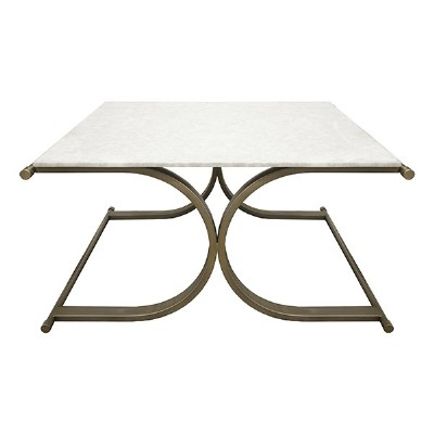 Marble top contemporary coffee table
